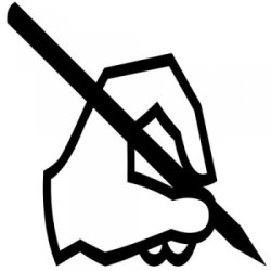 writing-left-hand-silhouette